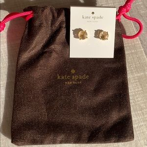 Kate spade bauble earrings in clear/gold